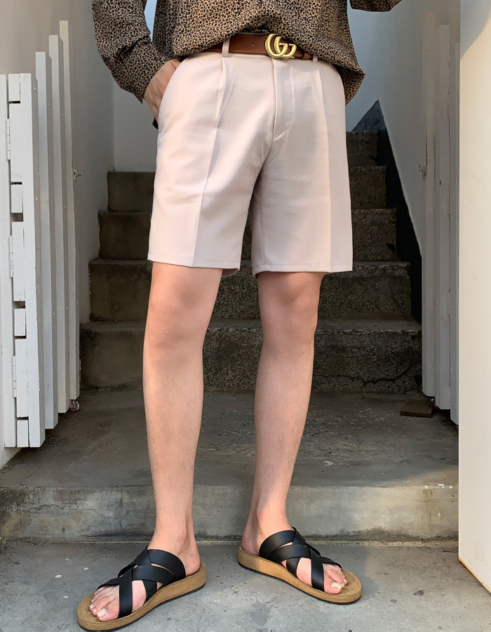 BASIC planning slim short pants (3color)