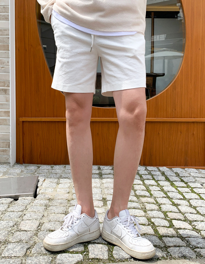 SI linen banding short pants (8color)