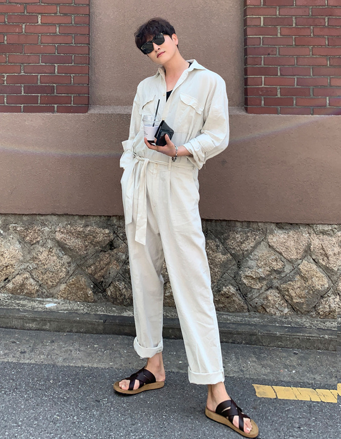 MOS Summer Linen Jumpsuit (2color)
