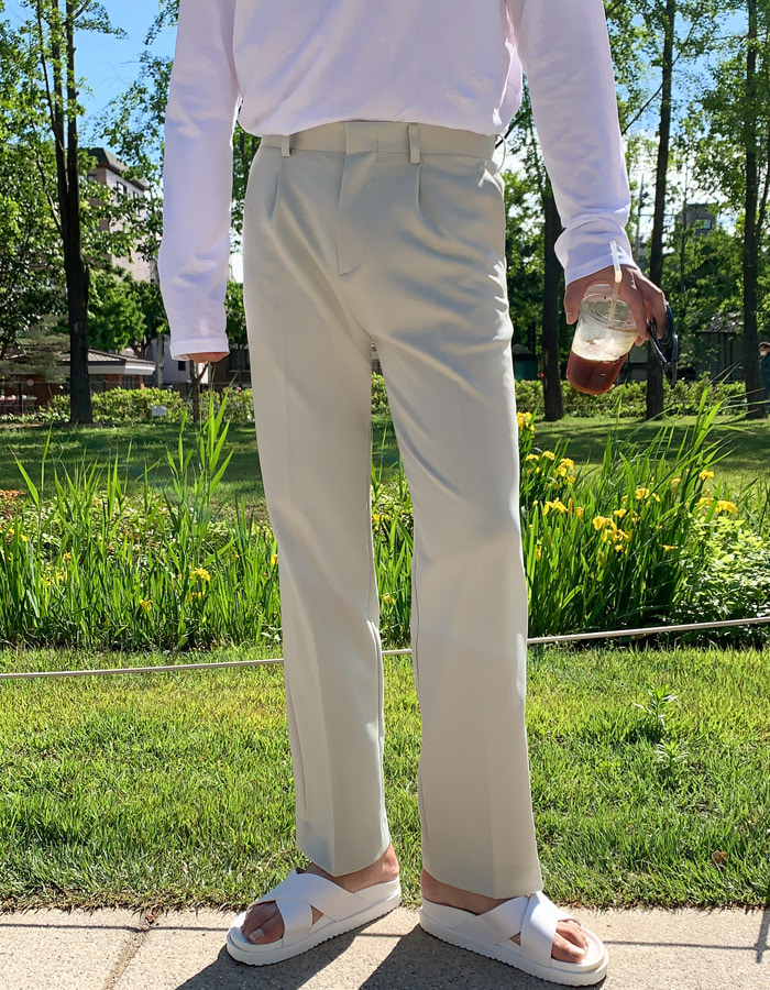 FL Flexible Wide Slacks (3color)