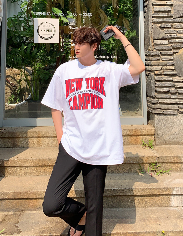 RT New York Champion Short Sleeve T-Shirt (4color)
